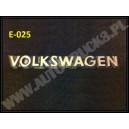 Emblemat, napis Volkswagen, emblemat samochodowy do VW, znaczek, logo, stary typ