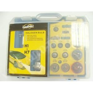 Zestaw żarówek H7 - H1 w eleganckim pudełku